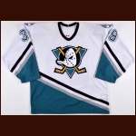 2002-03 Petr Sykora Anaheim Mighty Ducks Game Worn Jersey - Photo Match - Team Letter