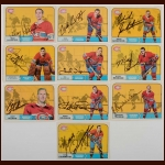 Lot of (10) 1968-69 OPC Montreal Canadiens Autographed Cards – Includes Hall of Famers