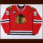 "2007-08 Andrew Ladd Chicago Blackhawks Pre-Game Skate Worn Jersey  - ""WWW"" – Bobby Hull 9 – Team Letter"