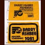 Lot of 2 Barry Ashbee Memorial Golf Tournament Pin Flags – 1980 & 1981