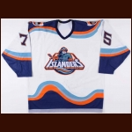 1995-96 Brett Lindros New York Islanders Game Worn Jersey – Fisherman Logo - Photo Match