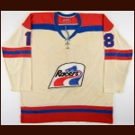 1977-78 Bobby Sheehan WHA Indianapolis Racers Game Worn Jersey