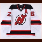 2011-12 Patrick Elias New Jersey Devils Game Worn Jersey - NJ Devils Goals Record - Photo Match - Video Match – Team Letter