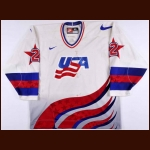 1996 Mike McBain Team USA World Junior Championships Game Worn Jersey - Photo Match