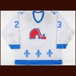 Late 1980's Paul Gillis Quebec Nordiques Game Worn Jersey