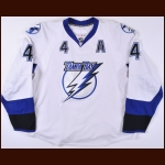 2007-08 Vincent Lecavalier Tampa Bay Lightning Game Worn Jersey - Photo Match