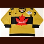 2004 Scott Niedermayer Team Canada World Cup Game Worn Jersey - Photo Match – Team Canada Letter
