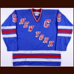1983 Barry Beck & Early 1980's Carol Vadnais New York Rangers Game Worn Jersey