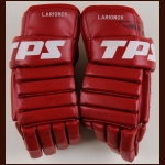 Igor Larionov Detroit Red Wings Red Louisville TPS Game Worn Gloves – Autographed