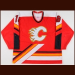 1998-99 Cory Stillman Calgary Flames Game Worn Jersey - Photo Match