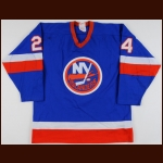 Early 1980's Gord Lane New York Islanders Game Worn Jersey – Stanley Cup Season