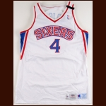 1994-95 Sharone Wright Philadelphia 76ers Game Worn Jersey – Memorial Armband