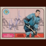 1968-69 OPC Bob Dillabough Pittsburgh Penguins Autographed Card – Deceased