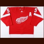 2003-04 Nicklas Lidstrom Detroit Red Wings Game Worn Jersey – Photo Match – Team Letter