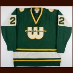1978-79 Jeff Brubaker WHA New England Whalers Game Worn Jersey - Rookie