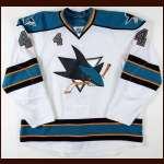 2008-09 Rob Blake San Jose Sharks Game Worn Jersey - Photo Match