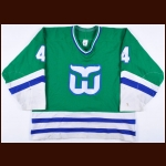 1990-91 Rob Brown Hartford Whalers Game Worn Jersey - Photo Match