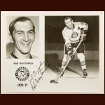Bob Woytowich Pittsburgh Penguins 8x10 B&W Autographed Photo – Deceased
