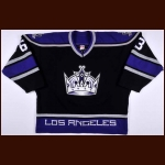 2003-04 Brad Norton Los Angeles Kings Game Worn Jersey – Team Letter