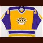 1981 Charlie Simmer Los Angeles Kings Game Worn Jersey