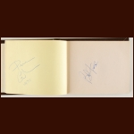 1984-85 Philadelphia Flyers Team Signed Autograph Book – Includes Deceased Lindbergh, Zezel, Sinisalo and McCrimmon