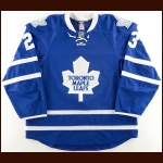 2015-16 Brooks Laich Toronto Maple Leafs Game Worn Jersey – Photo Match – Team Letter