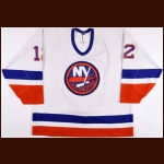 1994-95 Mick Vukota New York Islanders Game Worn Jersey - Photo Match