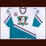 "2002-03 Rob Niedermayer Anaheim Ducks Stanley Cup Finals Game Worn Jersey – ""2003 Stanley Cup Finals"" - Photo Match - Team Letter"