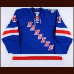 "2013-14 Rick Nash New York Rangers Stanley Cup Finals Game Worn Jersey – ""2014 Stanley Cup Finals"" - Photo Match – Team Letter"