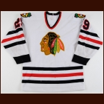 1984-85 Steve Ludzik Chicago Blackhawks Game Worn Jersey - Photo Match