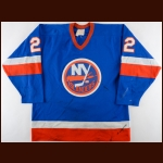 1981-82 Mike Bossy New York Islanders Game Worn Jersey - 1st Team NHL All Star - Conn Smythe Season - 64 Goal Season - Career Best 83 Assist & 147 Point Season - Stanley Cup Season - Photo Match