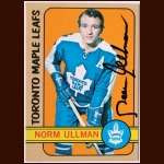 1972-73 Topps  #168 Norm Ullman Maple Leafs - Autographed
