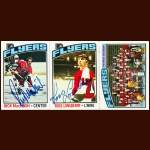 1976-77 Topps Philadelphia Flyers Autographed Card Group of 25 – Rick MacLeish, Ross Lonsberry & Fred Shero (Deceased)