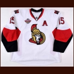 "2008-09 Dany Heatley Ottawa Senators Game Worn Jersey – ""Premiere Stockholm"" - Photo Match – Team Letter"