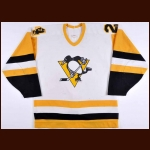 1987-88 Troy Loney Pittsburgh Penguins Game Worn Jersey