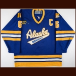 Late 1990's Dwayne Zinger Alaska Fairbanks Game Worn Jersey