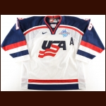 "2004 Brett Hull Team USA World Cup of Hockey Game Worn Jersey – ""2004 World Cup of Hockey"" - Photo Match - World Cup of Hockey Letter"