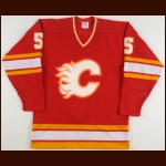 1983-84 Mickey Volcan Calgary Flames Game Worn Jersey