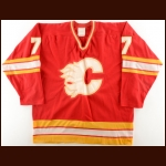 1983-84 Mike Eaves & 1982-83 Guy Chouinard Calgary Flames Game Worn Jersey