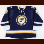 2011-12 Carlo Colaiacovo St. Louis Blues Game Worn Jersey – Alternate - Photo Match