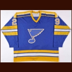 1980-81 Rick Heinz St. Louis Blues Game Worn Jersey – Rookie