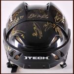 Chicago Blackhawks Team Signed Helmet – 2009-10 Stanley Cup Championship Team Signed by 17 Players and  Joel Quenneville