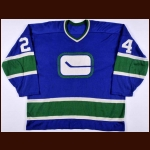 1973-74 Dave Dunn Vancouver Canucks Game Worn Jersey – Rookie