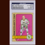Bill Goldsworthy 1972 Topps – Minnesota North Stars – Autographed – Deceased – PSA/DNA