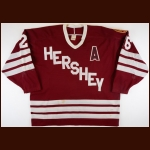 "1987-88 Don Nachbaur Hershey Bears Game Worn Jersey – ""50-year Anniversary"""