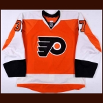 2013-14 Jay Rosehill Philadelphia Flyers Game Worn Jersey - Photo Match – Team Letter