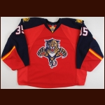 2012-13 Jacob Markstrom Florida Panthers Game Worn Jersey - Photo Match