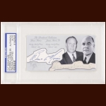 James, Sr. and Bruce Norris Autographed Card - The Broderick Collection - Deceased