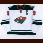 2015-16 Mikko Koivu Minnesota Wild Game Worn Jersey - Photo Match - Team Letter