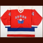 1990-91 Sean Burns Hamilton Dukes Game Worn Jersey